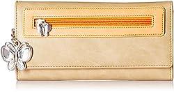 Butterflies Womens Wallet (Beige) (BNS 2374BG)