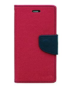 WiittyOwl Mercury Diary Wallet Style CaseFor Micromax Bolt Q331 (Pink)