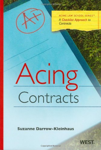 Acing Contracts (Acing Law School Series)