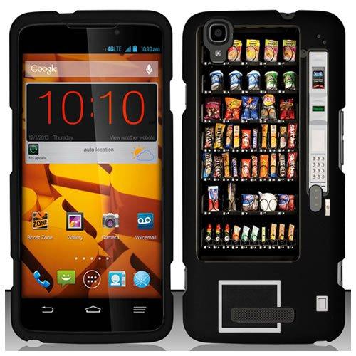 URAKKI Black Retro Vending Machine Design on Hard Slim Fit Phone Case Cover for ZTE Boost Max N9520 (Phone Charging Vending Machine compare prices)