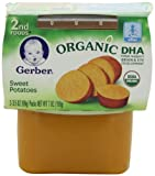 Gerber Organic 2nd Foods, Sweet Potatoes, 2 Count, 3.5 Ounce (Pack of 8)