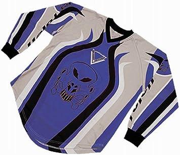 Roleff Racewear 8527 T-shirt Motocross, Bleu/Noir, XXXL