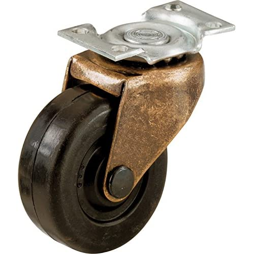 Shepherd Hardware 9346 2-Inch Medium Duty Plate Caster, 2-Pack