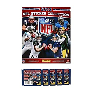 2012 NFL Sticker Collection Super Combo - Football Sticker Album + 18 Sticker Packets (126 NFL Stickers)