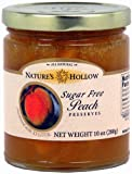 51lA2WsMPRL. SL160  Natures Hollow Sugar Free Peach Jam Preserves Sweetened with Xylitol 10 oz. jar