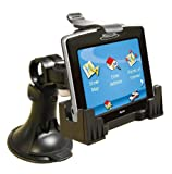 3-in-1 GPS Car Mount for the Magellan RoadMate 1700, - 3-Way Adjustable Angle for Optimal View - Includes Window Suction Mount, Dashboard Mount and Vent Clips