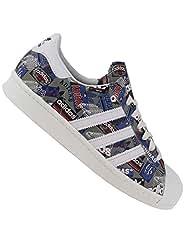 Adidas Originals Men's Superstar 80S Pioneers Nigo Leather Sneakers