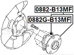 28373-Ag001 / 28373Ag001 - Front Wheel Hub For Subaru