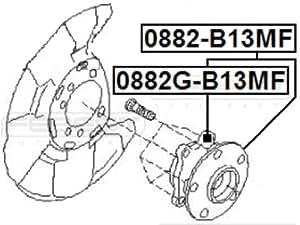 28373-Ag001 / 28373Ag001 - Front Wheel Hub For Subaru