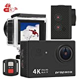 Prefeco Eagle 4 Action Camera 4K WiFi Ultra HD Waterproof Sports Camera 16MP 170 Degree Wide Angle 2 inch LCD Screen/2.4G Remote Control 2pcs Rechargeable 1050mAh Batteries Free Travel Bag