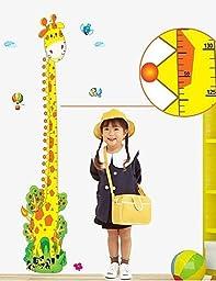 SS- Wall Stickers Wall Decals, Giraffe Height Ruler Home Decor Mural PVC Wall Stickers
