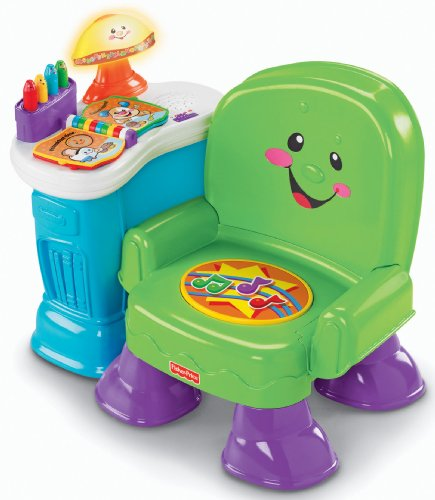 Fisher-Price Laugh & Learn Musical Activity Chair - Green. front-109849