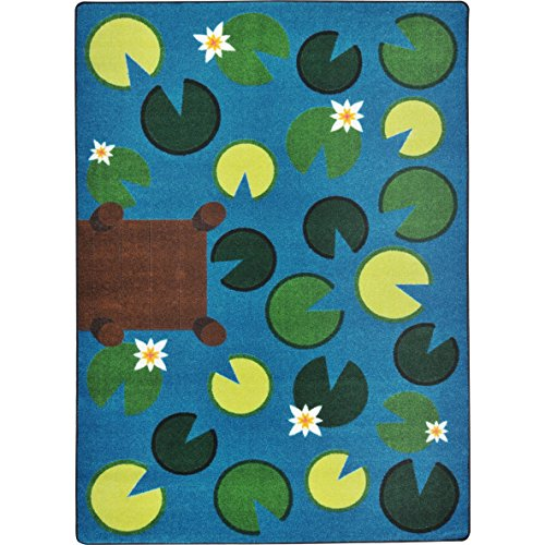 "Joy Carpets Kid Essentials Early Childhood Playful Pond Rug, Multicolored, 7'8"" x 10'9"""