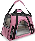"""OxGord® Pet Carrier Soft Sided Cat / Dog Comfort """"FAA Airline Approved"""" Travel Tote Bag - 2015 Newly Designed, Medium, Rose Wine"""