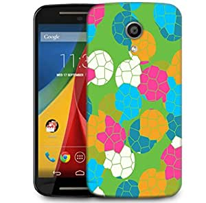Snoogg Mosaic Tiles Colourful 2882 Designer Protective Phone Back Case Cover For Motorola G 2nd Genration / Moto G 2nd Gen