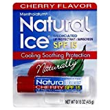 Natural Ice Mentholatum Lip Protectant Spf 15, Cherry Flavor, 0.16-Ounce Tubes (Pack Of 12)