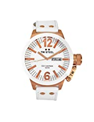 TW Steel Men's CE1036 CEO Canteen White Leather Dial Watch