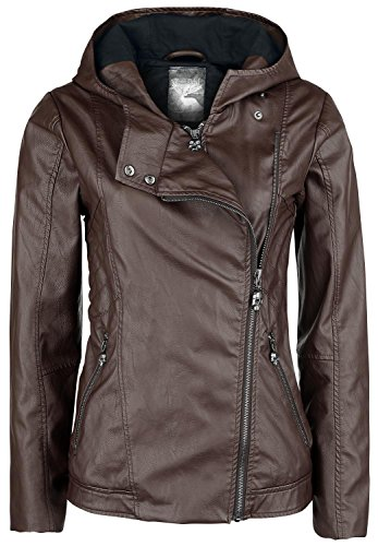 Rock Rebel by EMP Ladies Biker Jacket Giacca donna marrone XS