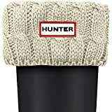 Hunter 6 Stitch Cable Socks Natural White