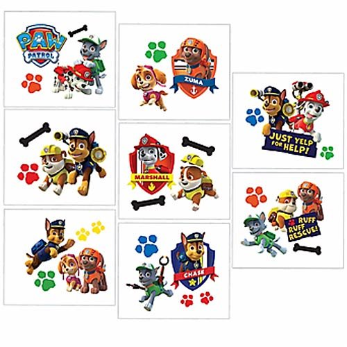 Paw Patrol Tattoo Favors - 16 Tattoos