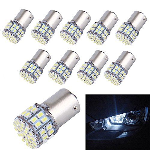 10-Pack Super Bright 1156 1141 1003 50-SMD White LED Bulbs For Car Rear Turn Signal lights Interior RV Camper (Bulb Led Car compare prices)