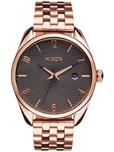 nixon-damen-armbanduhr-bullet-all-rose-gold-gunmetal-analog-quarz-edelstahl-a4182046-00
