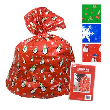 1x Christmas House Giant Poly Gift Sacks, 36x44