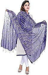 Femezone Women 's Dupatta (Blue, 240 cm)