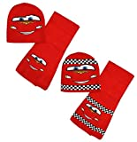 Boys Official Disney Cars Kids Warm Hat Scarf Set Red New Age 52 54cm 2-8 Years