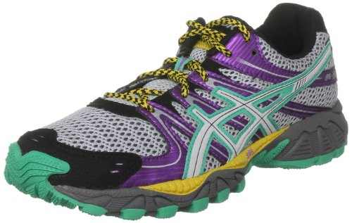 ASICS Women's Gel Fuji Trainer Storm/Lightning/Summer Green Trainer T269N 9693 5 UK