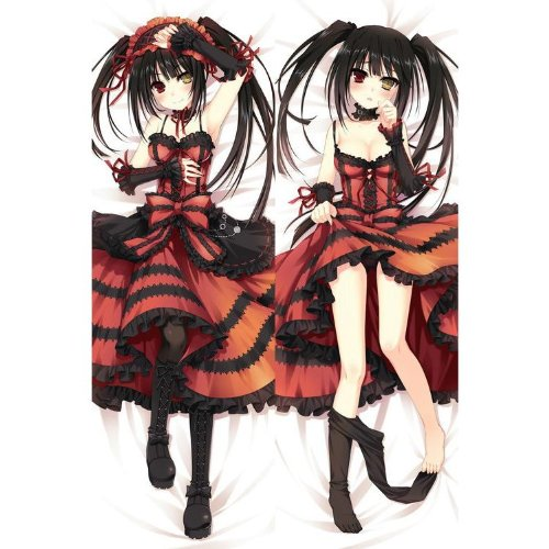 "Japan Anime Date A Live Tokisaki Kurumi Decorative Hugging Body Pillow Cover Case Double-Sided 59.06""X19.69"""