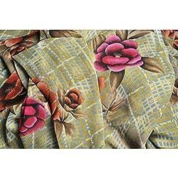 Triveni Faux Georgette Fabrics (TSFP17_Green)