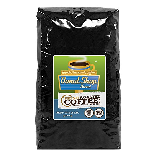 2 Lb. Bag, Donut Shop Blend Coffee, Whole Bean coffee, Fresh Roasted Coffee LLC. (Donut Shop Whole Bean Coffee compare prices)