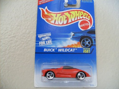Buick Wildcat 1997 Hot Wheels #597 Red, W/no Tampos, Black Malaysia Base, W/3sp's