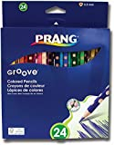 Prang Groove Presharpened 3.3mm Core Colored Pencils, Set of 24 Pencils (28124)