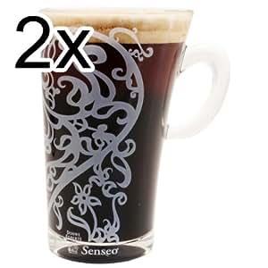 2x Senseo Marcel Wanders Design Latte Macchiato Tasse en verre (260ml)