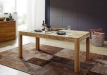 MODENA Table de salle à manger Chêne sauvage huilé 140x90cm Bois massif