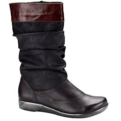 Naot Women's Life,Tar Black/Jet Black/Luggage Brown Leather,EU 35 M