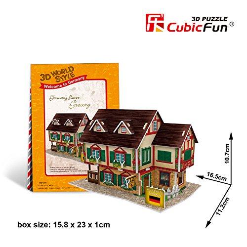 """Cubicfun Cubic Fun 3d Puzzle Model 32pcs Germany Flavor Grocery 6.5"""" - 1"""
