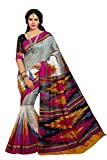 Shree Fashion Hub Printed Bhagalpuri Silk Saree With Blouse Piece