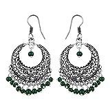 Pearlz Antique Green Dangle & Drop Earrings for Women