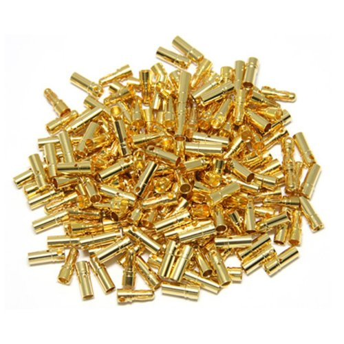 Generic 3.5mm Gold Bullet Connector Battery ESC Plug (Pack of 50 Pairs) - 1