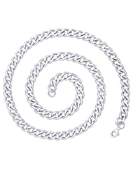 "Peora 316L Stainless Steel Cool Link Chain, 21"" (PSP348)"
