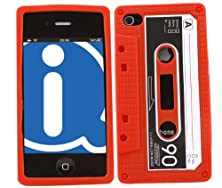 buy Italkonline Softskin Cassette Tape Retro Red White Blue Super Hydro Silicone Protective Armour/Case/Skin/Cover/Shell For Apple Iphone 4 4G Hd