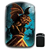 Gruesome Gargoyle Perched on Mausoleum on Full Moon Night For Amazon Kindle Fire & Kindle 3G Keyboard Soft Protection Neoprene Case Cover Sleeve Bag With Pocket which is Ideal for Headphones, Data Cable etc