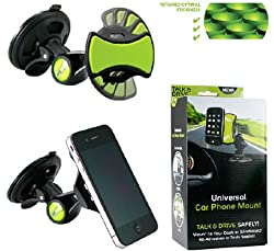 Universal car phone mount Holder Hands-Free for All Mobile GPS 360 rotation