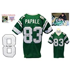 Vince Papale Signed Green Jersey - Philadelphia Eagles Autograph