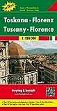 Toscana, mapa de cerreteras. Escala 1:150.000. Freytag & Berndt. (Road and Leisure Time Map)