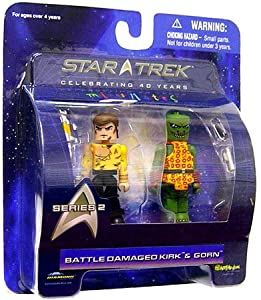 Diamond Select Toys Star Trek The Original Series Mini Mates Series 2 Battle Damaged Kirk & Gorn