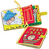 Jellycat Soft Books, Peek A Baby - 6 inches